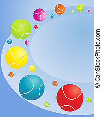 tennis balls - an illustration of colorful tennis balls