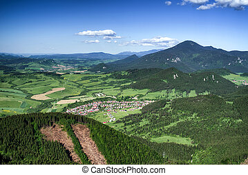 Beautiful country landscape in Slovakia - Hill Choc rom hill...
