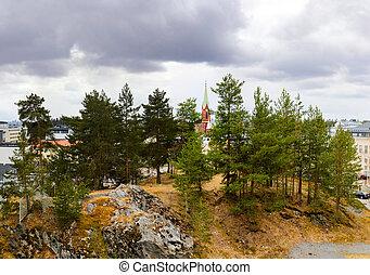 Mikkeli, Suomi or Finland - Mikkeli cathedral view, Eastern...