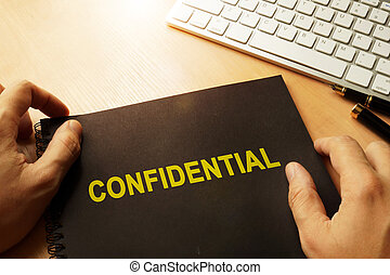 Document with label confidential.