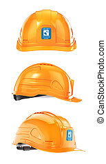 Set of construction Helmet. 3d illustration