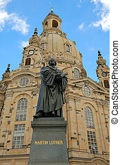 Frauenkirche Dresden to Martin Luther