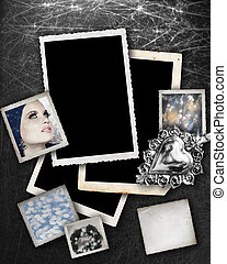 Silver background with frames. - Silver background with...