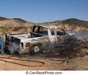 Arson - A truck that had been stolen, set on fire and then...