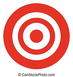 Target symbol isolated on white. Accuracy, target, aiming...