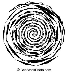 Abstract spiral elements. Abstract unique swirl, twirl shape...