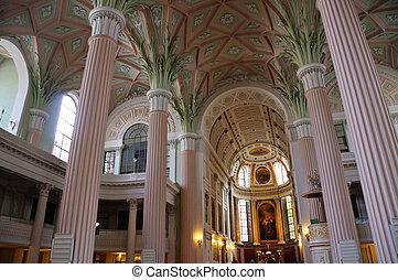 Leipzig, Germany - Altar and Organ of St.Nicholas Church in...