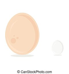 Ostrich and chicken egg - Vector illustration ostrich and...