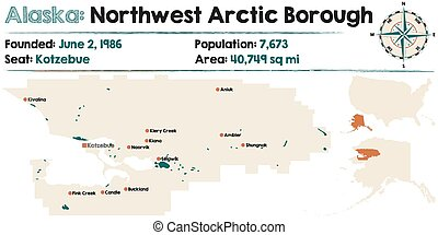 Alaska: Northwest Arctic Borough - Large and detailed map of...
