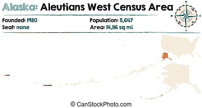 Alaska: Aleutians West Census Area - Large and detailed map...