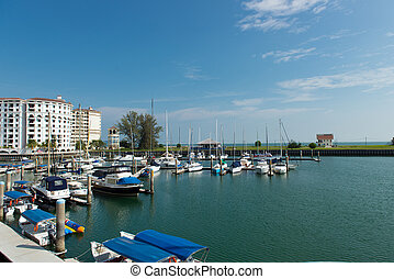 Yachts docked at the harbour - Beautiful scene of yachts...