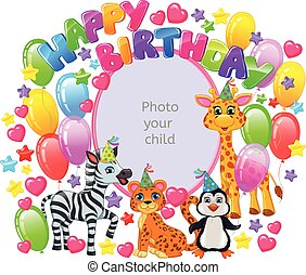 Birthday frame for your baby photo