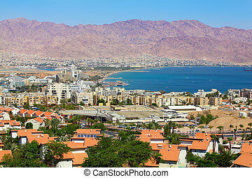 Panoramic aerial view on Eilat , Israel