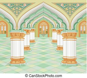 Arabic Palace - Illustration of medieval Arabic Palace
