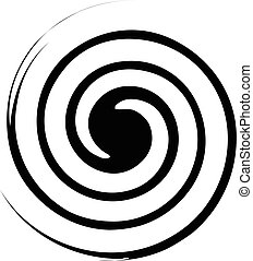Spiral, twirl illustration. Abstract element with radial...