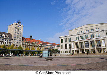 Leipzig, Germany - Northward of Augustusplatz(Augustus...