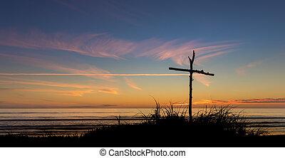 After Sunset Stick Cross
