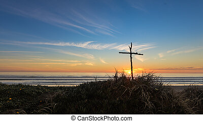 Sunset Stick Cross