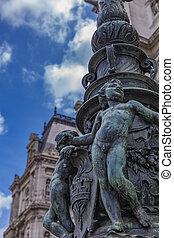 Hotel de Ville (City Hall) in Paris - Detail of decorative...