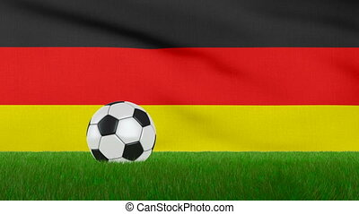 Ball on the Germany flag - Ball on the grass on the...