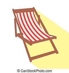 Isolated beach chair