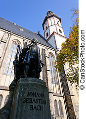 Leipzig, Germany - St.Thomas Church in Leipzig, Saxony,...