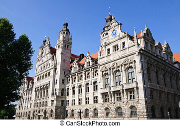 Leipzig, Germany - Neues RathausNew Town Hall in Leipzig,...