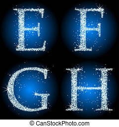 letters stars blue EFGH, this illustration may be useful as...