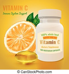 Vitamin C Package - Vitamin C package with an orange and...