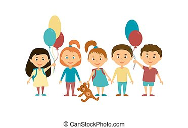 Children. Cartoon characters.