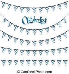 different Oktoberfest garlands - Oktoberfest garlands having...