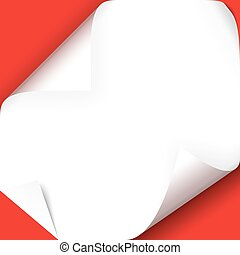 turned over paper corners - collection of vector...