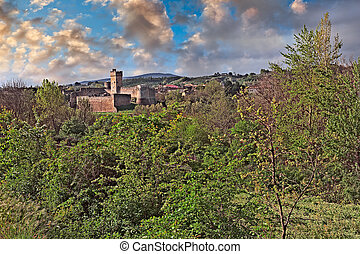 Staggia Senese, Siena, Tuscany, Italy: landscape at sunrise from the countryside