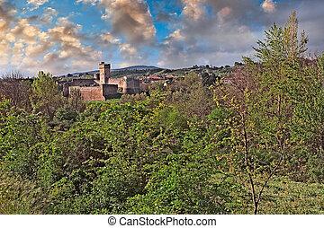 Staggia Senese, Siena, Tuscany, Italy: landscape at sunrise...