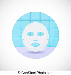 Face mask vector flat icon