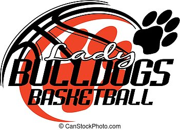 lady bulldogs basketball team design with paw print for...