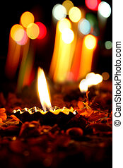 Diwali Lamps - Beautiful lamps traditionally lit on the...