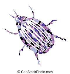 Bug icon on white.