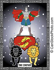 the chariot card - the illustration - card for tarot - the...