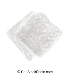 Gauze pads - Sterile medical gauze pads isolated on white...
