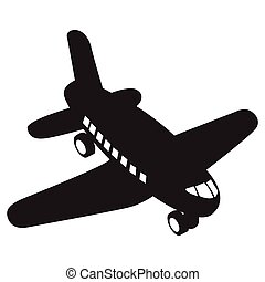 Isolated airplane toy