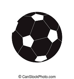 Isolated soccer ball silhouette