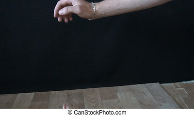 4k hand trying to catch a rubber ball jumper.slow motion