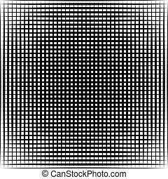 Geometric black and white texture. Mesh, grid pattern of...