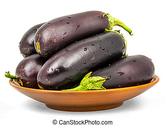 Eggplant . Isolation on a white background with a clipping...