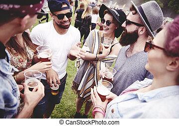 Festival, Möte, vänner, musik