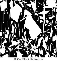 Harsh rough texture. Geometric abstract illustration with...