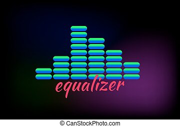 gradient sound wave - gradient blue sound wave, equalizer....