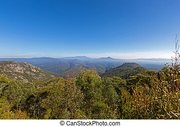 Round Mt scenic Lookout on Olivers Road at Mount Roland...