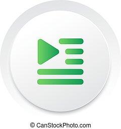 playlist, eenvoudig, knoop, rij, Vector, Muziek, interface,...